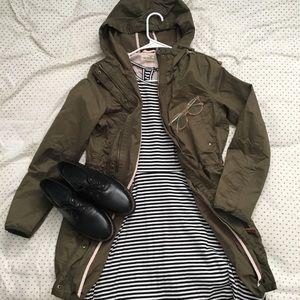 Hunter Green Military Jacket H&M Parka Dark Fall